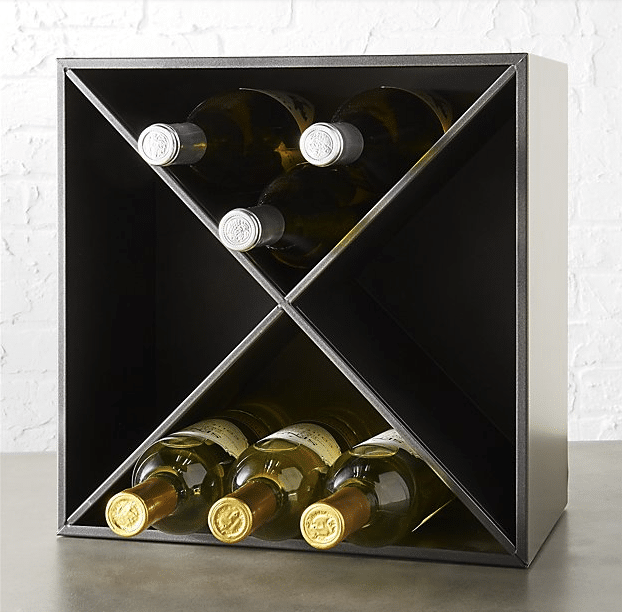 cb2 wine rack