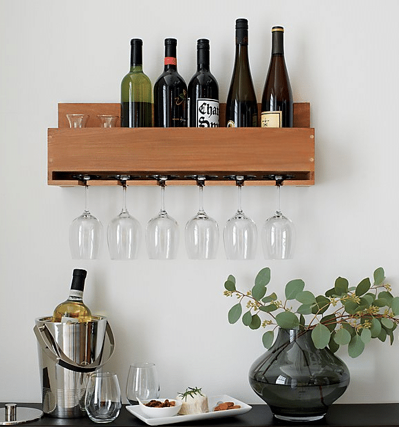 Crate and Barrel wine rack