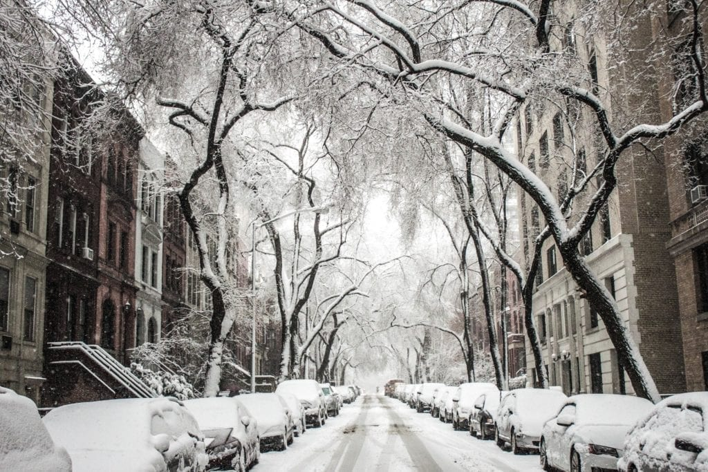 Snow in Borough Park, New York, New York