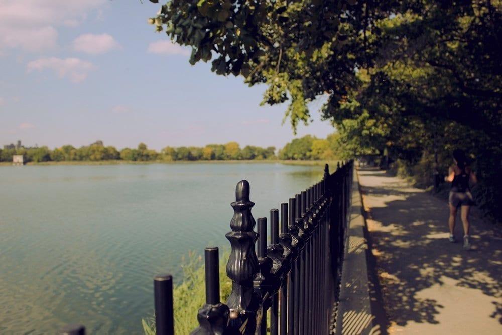 Echo Lake Park wrought iron fence, Mountainside, NJ