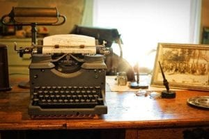 writers moving to queens and bringing their typewriters