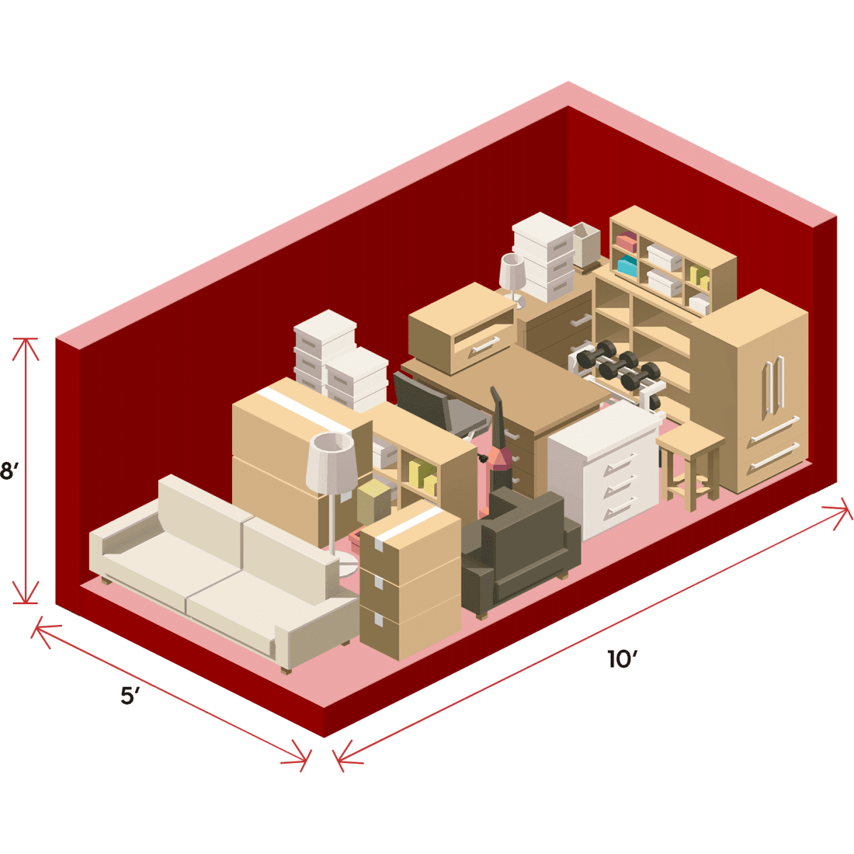 What size self-storage unit do I need?