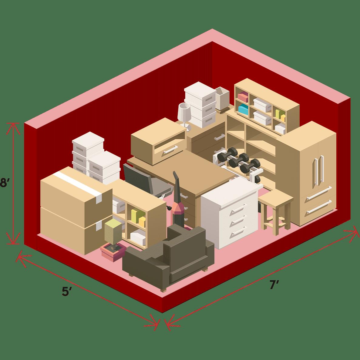 5 x 7 storage unit