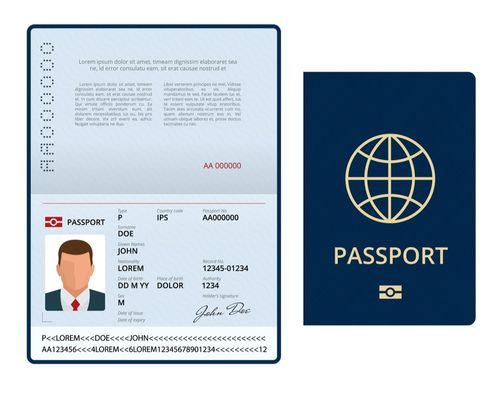 passport off a moving truck