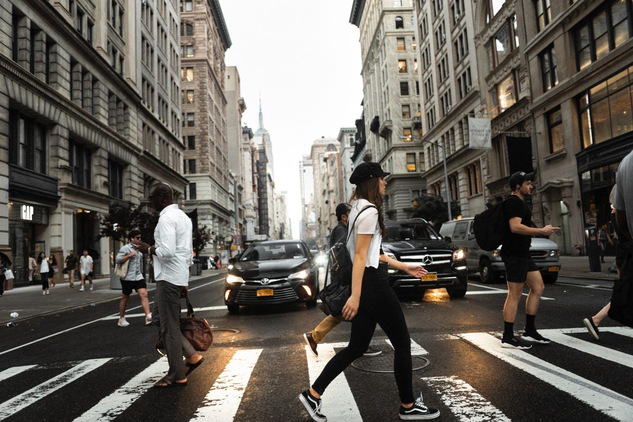 NYC walking